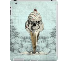 Eternally Sweet, Cremated skull ice cream iPad Case/Skin