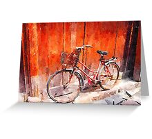Bicycle in China Greeting Card