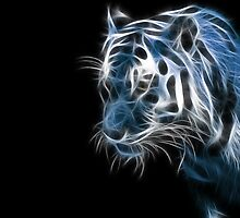 "Awesome ""Neon Blue Tiger"" by mhykel"