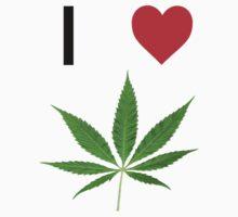 I love Marihuana One Piece - Short Sleeve