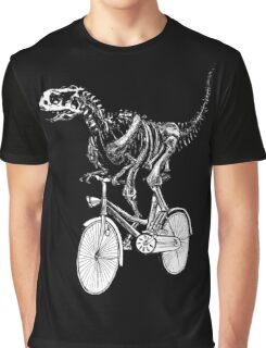 Skeleton Fossil Love Bike  Graphic T-Shirt