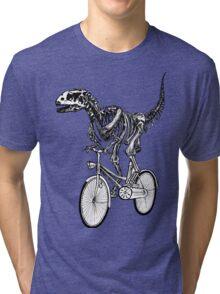 Skeleton Fossil Love Bike  Tri-blend T-Shirt
