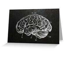 Brain Engraving Greeting Card