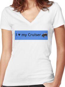 I love my Cruiser Women's Fitted V-Neck T-Shirt