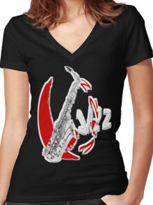 Jazz Time4 Women's Fitted V-Neck T-Shirt