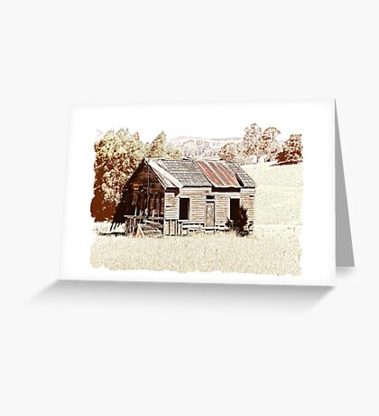 Old shingle roof building  Greeting Card