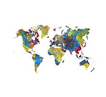 World Map 2050 Photographic Print