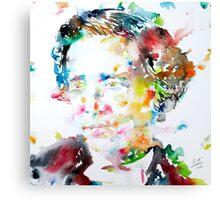 LEWIS CARROLL - watercolor portrait Canvas Print