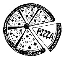Pizza vintage style Photographic Print