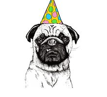 Party Pug by ianupcott