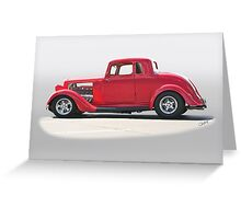 1934 Plymouth Coupe Greeting Card