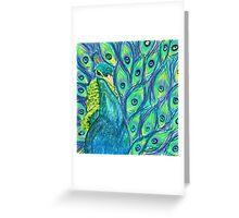 Funky peacock  Greeting Card