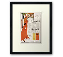 Poster for 'The Pseudonym and Autonym Libraries' Framed Print