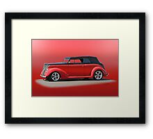 1937 Ford Phaeton 'Red Studio' Framed Print