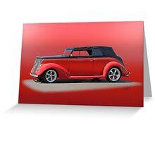 1937 Ford Phaeton 'Red Studio' Greeting Card