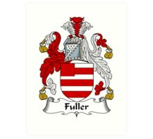 Fuller Coat of Arms / Fuller Family Crest Art Print