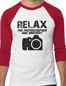 RELAX The Photographer Has Arrived! Men's Baseball ¾ T-Shirt