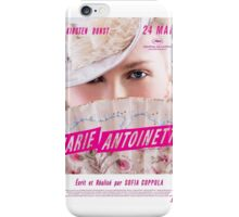 Marie Antoinette French Movie Poster iPhone Case/Skin