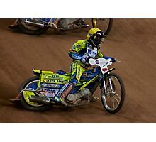 Kenneth Bjere at Cardiff Speedway Photographic Print