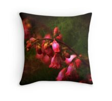 Coral Bells in Classic Square Format Throw Pillow