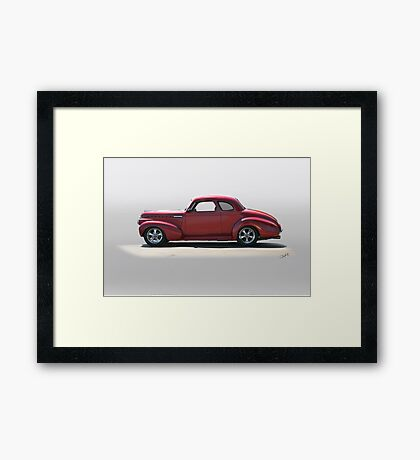 1940 Chevrolet Master Deluxe Coupe Framed Print