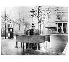 Vespasienne (public urinal) on the Grands Boulevards, Paris Poster