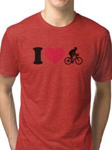 I love bike cycling Tri-blend T-Shirt