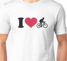 I love bike cycling Unisex T-Shirt