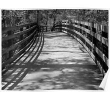 Trail Shadows - B&W Poster