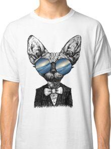 Galaxy Cat Sphynx Sunglass  Classic T-Shirt
