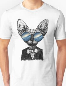 Galaxy Cat Sphynx Sunglass  T-Shirt