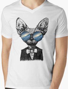 Galaxy Cat Sphynx Sunglass  Mens V-Neck T-Shirt