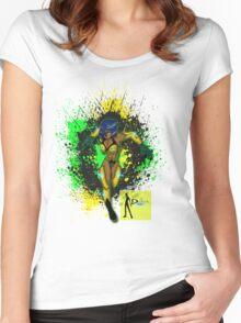 Jamaican Comics Pride Women's Fitted Scoop T-Shirt