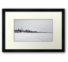 Winter on the ice Framed Print