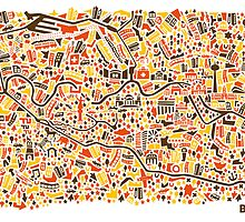 Berlin City Map by Vianina