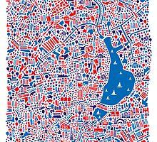 Hamburg City Map by Vianina