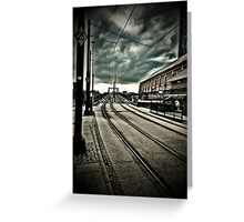 Manchester Tram Line Greeting Card
