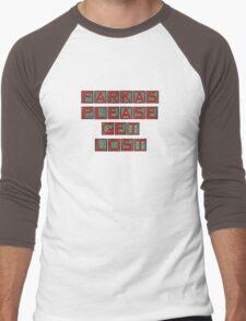 Farkas Please Get Lost Men's Baseball ¾ T-Shirt
