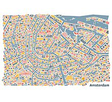 Amsterdam City Map Photographic Print