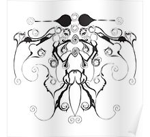 Moth Swirls And Twirls Poster