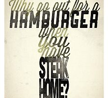 Hamburger - Paul Newman by 17thandoak