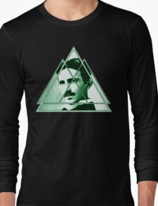 Tri-Tesla Long Sleeve T-Shirt