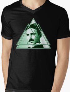 Tri-Tesla Mens V-Neck T-Shirt