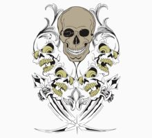 "Skull Multi ""Cross Swords"" Multiple Skeletons by artkrannie"