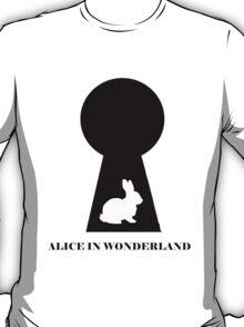 Keyhole and Rabbit Minimalism T-Shirt