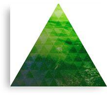Green Pyramid landscape geometric Canvas Print