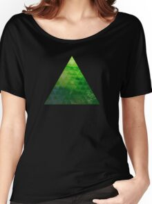 Green Pyramid landscape geometric Women's Relaxed Fit T-Shirt