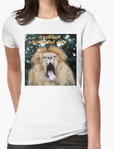 Another stressful day Womens Fitted T-Shirt