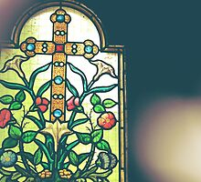 Floral Stained Glass Window by Jessica Reilly