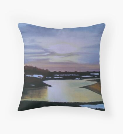 Wintertime In The Moors Throw Pillow